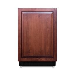 "Summit ALRF49B 20"" Wide Built-in Refrigerator-Freezer ADA Compliant Panel Ready"