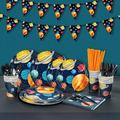 Mofine LLC Outer Space Birthday Party Supplies, Planet Party Decorations For Boys, Birthday Party Packs Include Plates, Napkins, Dinnerware, Cups