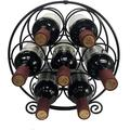 Prep & Savour Freestanding Metal Wine Rack, 7 Bottles Wine Racks, Wine Bottle Holder, Wine Holder For Kitchen Countertops, Pantry, Cabinet, Fridge