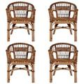 East Urban Home Farview Patio Dining Armchair Wicker/Rattan in Brown, Size 66.93 H x 59.06 W x 39.37 D in   Wayfair