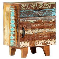 East Urban Home Warrensburg 1 - Drawer Solid Wood Nightstand in Wood in Brown, Size 19.69 H x 15.75 W x 11.81 D in   Wayfair