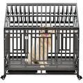 Tucker Murphy™ Pet Heavy Duty Dog Pet Crate Cage w/ Roof ?roof Can Not Open? in Black, Size 45.2 H x 44.0 W x 29.5 D in | Wayfair