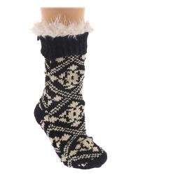BEARPAW Women's Chenille Slipper Socks Size One Size Black