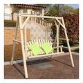 ASDDD Porch Swing, Patio Swing, Swing Chair Garden Swing Outside Furniture Outdoor Swing Chair, All Solid Wood Waterproof and Anti-Corrosion Double Terrace Rocking Chair