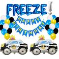 Police Birthday Party Decorations, Police Themed Birthday Party Supplies Kids, Police Car Birthday Party Decorations, Police Car Birthday Party Supplies, Freeze Cop Party Decorations Banner Balloons