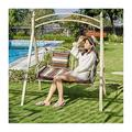Porch Swing, Patio Swing, Swing Chair Princess Swing Bed Outdoor Swing Chairs for Adults, Garden Swing Lazy Daze Hammocks Swing Bench Perfect Set for Patio, Poolside