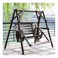 ASDDD Porch Swing, Patio Swing, Swing Chair Garden Swing Chair Outside Furniture Outdoor Swing Chair, All Solid Wood Waterproof and Anti-Corrosion Double Terrace Rocking Chair