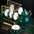 Coffee Cup Mug Cup Set Ceramic Coffee Cup Set, 6 Oz (about 150 Ml) And 6,6 Spoons Of Saucer, 1 Coffee Pot, Coffee Rack And Iron Plate, Suitable For Coffee, Milk, Afternoon Tea Party, Coffee cups/Tea c