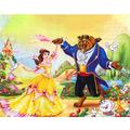 """DIY Diamond Painting for Kids,Full Drill Princess Diamond Drawing Painting by Number Kits Arts Crafts Diamond Painting for Birthday Gifts 12""""×16"""" (Beauty and The Beast)"""