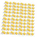 X-DREE 200pcs RV3.5-4 Pre Insulated Crimp Terminal Connector Yellow for AWG 14-12 Wire (200pcs RV3.5-4 pré isolé connecteur jaune de connecteur terminal pour AWG 14-12 fil
