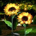 "Yiliaw Solar Sunflower Lights 2 Pack,28"" Garden Decor Solar Sunflower Lights,Outdoor Waterproof LED Decorative Solar Light for Garden Patio Lawn Yard Porch Walkway Backyard"