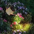 Star Type Shower - Outdoor Solar Garden LED Light, Hollow Water Kettle Running Water Shower Garden Lamp, Watering Can Lights Garden Art LED Light for Garden Stake Light for Yard Lawn (A)