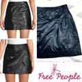 Free People Skirts | Nwot |Free People| Fake Out Faux Leather Mini | Color: Black | Size: 0