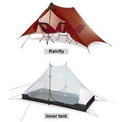 CEOKS Ultralight Tent Backpacking Camping Tent Green Aluminum in Red, Size 49.21 H x 82.68 W x 43.31 D in | Wayfair CEOKSYX10013610