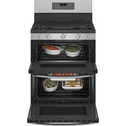"""GE Profile™ 30"""" Sealed Burners Double Oven in Gray, Size 47.25 H x 30.0 W x 29.25 D in   Wayfair PGB965YPFS"""