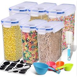 Prep & Savour Cereal Container, Our Airtight Dry Food Storage Containers, BPA Free Large Kitchen Pantry Storage Container For Flour, Snacks in Blue
