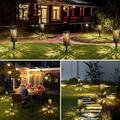 Glaustoncn Solar Lights Outdoor Upgraded Bright Solar Pathway Lights Bigger Size Decorative Solar Garden Lights Waterproof Solar Powered Led Landscape Lighting F