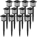 Glaustoncn Solar Garden Lights,12 Pack Solar Path Lights, Solar Walkway Lights Outdoor, Solar Pathway Lights Outdoor Waterproof For Garden, Patio