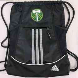 Adidas Bags   Portland Timbers Soccer Drawstring Gym Backpack   Color: Black/Green   Size: Os