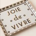 Anthropologie Accents | Bistro Tile Joie De Vivre Ceramic Tray | Color: Black/Gold | Size: 9.5x7.75