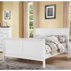 Alcott Hill® Louis Philippe III Bed Wood in White, Size 62.0 W x 90.0 D in   Wayfair 97534AFC093A4E348CBA038204B1A44D