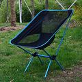 FFYY Camping Chair,Portable Camping Chair Lightweight Outdoor Compact Low Back Aluminum Folding Camping Chair Foldable Picnic Chair Fold Up Fishing Beach Chair (Color : Lake Blue)