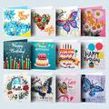 12pcs Greeting Cards Blank Cards Birthday Cards All Occasion Greeting Cards Note Cards DIY Diamond Painting Friendship Cards Anniversary Cards BFF Cards Thanks Cards Wedding Cards