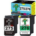 YATUNINK Remanufactured Ink Cartridge Replacement for Canon Ink Cartridges 275 and 276 PG-275 CL-276 275 276 Ink Cartridges Combo Pack Black Color for Canon PIXMA TS3520 Ts3522 Printer Ink(2 Pack)