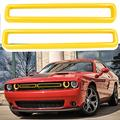Opall ABS Front Grill Inserts Guards Insert Exterior Accessories Decoration Trim Cover Challenger Accessories for 2015 2016 2017 2018 2019 2020 2021 Dodge Challenger