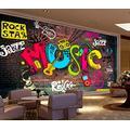 Photo Wallpaper 3D Effect Graffiti Retro Living Room Bedroom Mural Wallpaper 3D Hd 3D Mural Decoration Wallpaper Wall Sticker Border -430x300CM(LxH)-XXXL