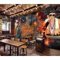 Photo Wallpaper 3D Effect Retro Graffiti Brick Wall Living Room Bedroom Mural Wallpaper 3D Hd 3D Mural Decoration Wallpaper Wall Sticker Border -250x175CM(LxH)-XL