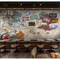 Photo Wallpaper 3D Effect Retro Anime Graffiti Living Room Bedroom Mural Wallpaper 3D Hd 3D Mural Decoration Wallpaper Wall Sticker Border -350x256CM(LxH)-XXL