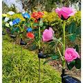 2PC Outdoor Solar Lights, Artificial Chrysanthemum Sunflower Solar Garden Lights, Outdoor Garden Decorative Landscape Lighting, Waterproof Solar Flower Lights for Garden Patio Lawn Yard Decorative