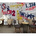 Photo Wallpaper 3D Effect Retro Graffiti Street Dance Living Room Bedroom Mural Wallpaper 3D Hd 3D Mural Decoration Wallpaper Wall Sticker Border -200x140CM(LxH)-L
