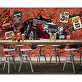Photo Wallpaper 3D Effect Retro Graffiti Hand-Painted Living Room Bedroom Mural Wallpaper 3D Hd 3D Mural Decoration Wallpaper Wall Sticker Border -200x140CM(LxH)-L