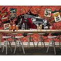 Photo Wallpaper 3D Effect Retro Graffiti Hand-Painted Living Room Bedroom Mural Wallpaper 3D Hd 3D Mural Decoration Wallpaper Wall Sticker Border -150x105CM(LxH)-M