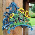 European Sunflower Tulip Flower Cast Iron Wrought Iron Pipe Bracket Cast Iron Gardening Ornaments Retro Villa Gardening Hose Rack