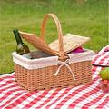 WDSZXH Picnic Basket Outdoor Picnic Basket Picnic Basket Wicker Wicker Picnic Basket Picnic Basket Complete Child Picnic Basket Vintage Picnic