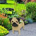 Resin Animal Plant Pot Dog Planter Animal Succulent Planter Cute Dog Herb Garden Succulents Planter for Home Office (A)
