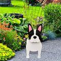 Resin Animal Plant Pot Dog Planter Animal Succulent Planter Cute Dog Herb Garden Succulents Planter for Home Office (E)