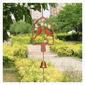 GAODINGD Garden Statue Outdoor Statues Wind Chime Vintage Metal Animal Charm Hanging Music Ornament for Outdoor Patio Home Garden Decoration Memorial Gift (Color : B)