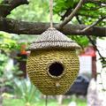 Outdoor Hanging Garden Terrace Birdhouse Resin Birdhouse Bird House Rustic Style Hut Bird Feeder Wooden Birdhouse Bird Feed Station Garden Nester Outdoor Decoration Outdoor Garden Decoration Birdhouse