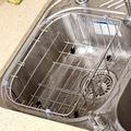 Wash Basket Expandable Dish Drying Rack, Adjustable Dish Drainer For Kitchen Sink, Over The Sink Dish Rack, In Sink Or On Counter, Sink Rack Multifunction