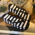 Kate Spade Shoes | Kate Spade Platform Bow Tie Sandal Sz 9 | Color: Black/White | Size: 9