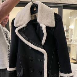 Burberry Jackets & Coats | Burberry Women Black Colstead Shearling Trim Coat | Color: Black | Size: Xxs