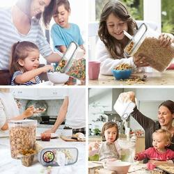 Prep & Savour Cereal Container, Our Airtight Dry Food Storage Containers, BPA Free Large Kitchen Pantry Storage Container For Flour, Snacks in Black