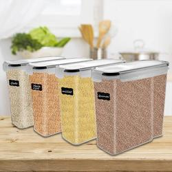 Prep & Savour Airtight Food Storage Container Set BPA Free Plastic Cereal Containers For Kitchen Pantry Organization in Black | Wayfair