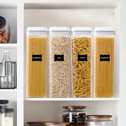 Prep & Savour Airtight Food Storage Containers, Our 4 Pieces BPA Free Plastic Spaghetti Containers w/ Easy Lock Lids in White | Wayfair