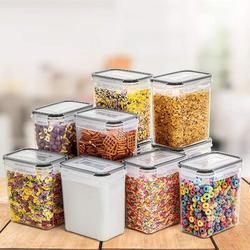 Prep & Savour Airtight Food Storage Containers By It, BPA Free Khaki Cereal & Dry Food Storage Containers For Kitchen Pantry Organization in Black