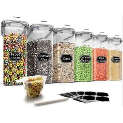 Prep & Savour Large Cereal & Dry Food Storage Containers, Airtight Cereal Storage Containers For Sugar, Flour, Snack, Baking Supplies | Wayfair